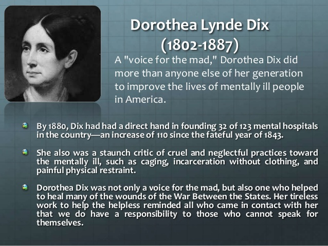 dorothea dix thesis statement Dorothea dix dissertation writing service to help in writing a phd dorothea dix thesis for a phd thesis class  thesis statement model:.